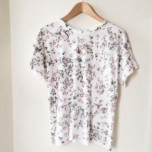 Rag & Bone Floral Print Cotton Tshirt